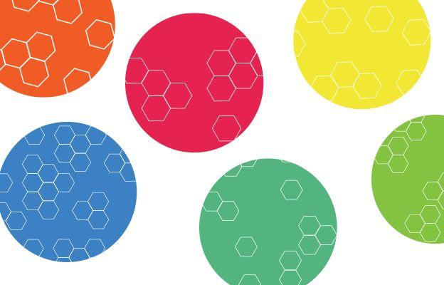 Bubbles of various colours