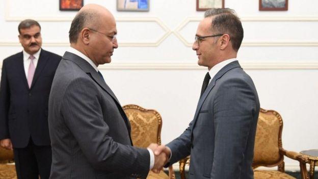 هایکو ماس در سفر به عراق با برهم صالح، رئیس جمهور این کشور هم دیدار کرد
