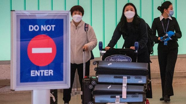 Arrivals at US airport