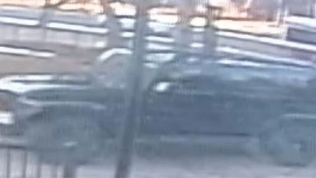 A CCTV image of the Jeep Wrangler involve dint he abduction