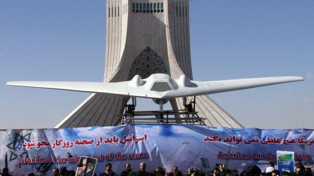 Макет сбитого RQ-170 Sentinel в Тегеране
