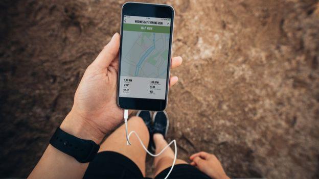 Uso do celular como monitor de movimentos