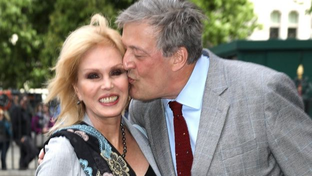 Joanna Lumley and Stephen Fry