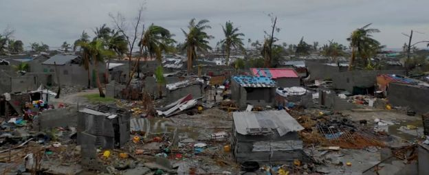 A general view shows destruction after Cyclone Idai in Beira, Mozambique