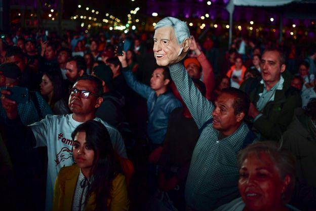 Seguidores de Andrés Manuel López Obrador.