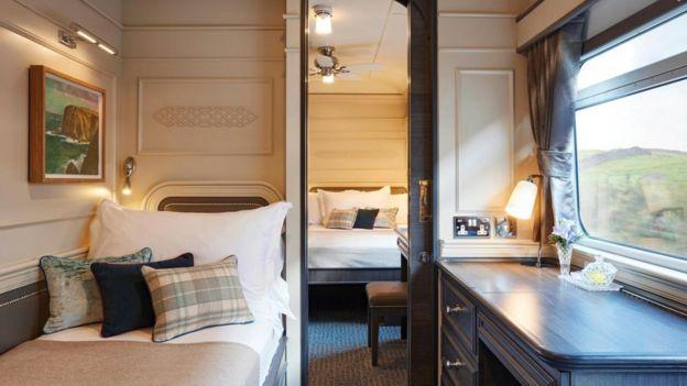 Los camarotes del Belmond Grand Hibernian, tren que atraviesa Irlanda, son cómodos y espaciosos.