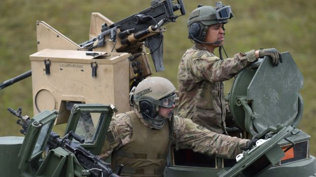 Американские танкисты в Европе