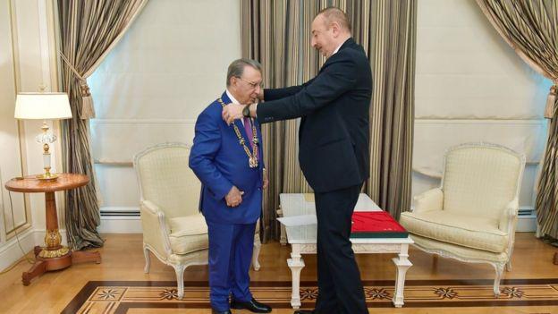Prezident İlham Əliyev və Ramiz Mehdiyev