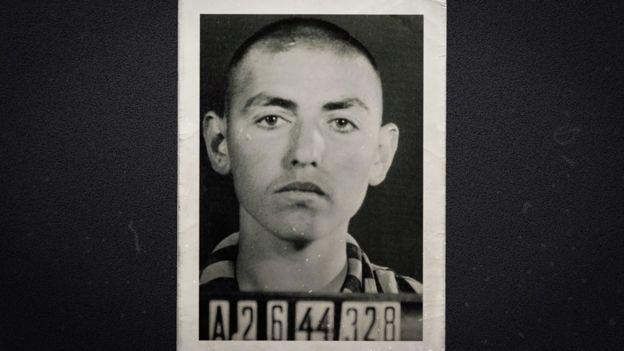 David Herman at Buchenwald concentration camp