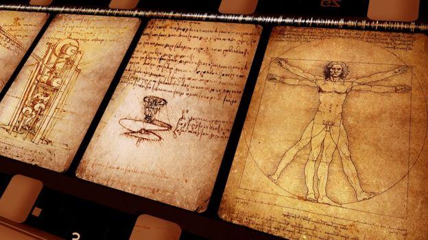 Dibujos de inventos de Leonardo Da Vinci.