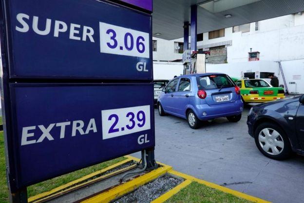 Una gasolinera en Ecuador
