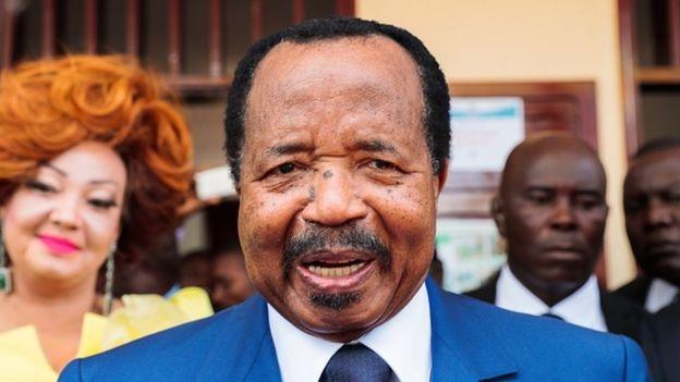 Cameroon's President and head of Cameroon People's Democratic Movement Paul Biya