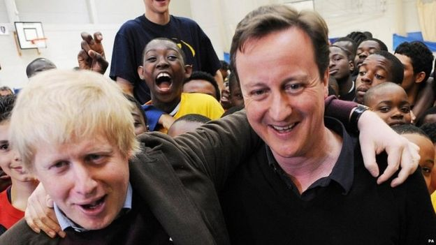 Boris Johnson e David Cameron em 2010