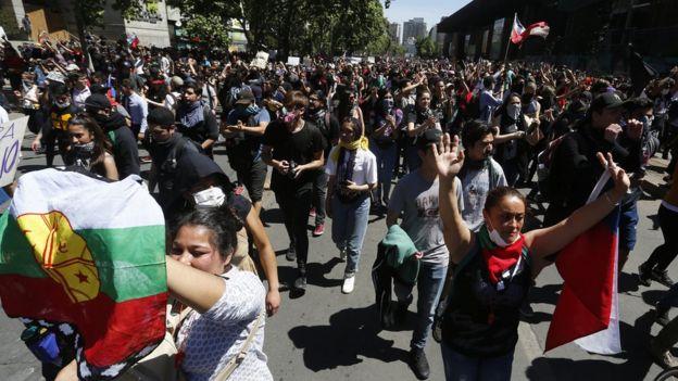 Marcha en Santiago de Chile