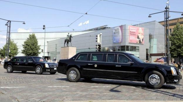 La limusina presidencial de EE.UU. en Helsinki