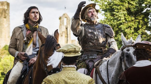 Adam Driver and Jonathan Pryce in The Man Who Killed Don Quixote