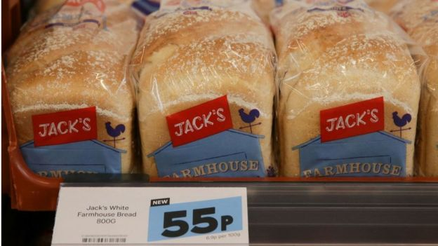 Bread on a shelf at Jack's
