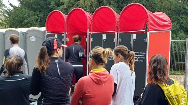 Туалеты на спортивном соревновании