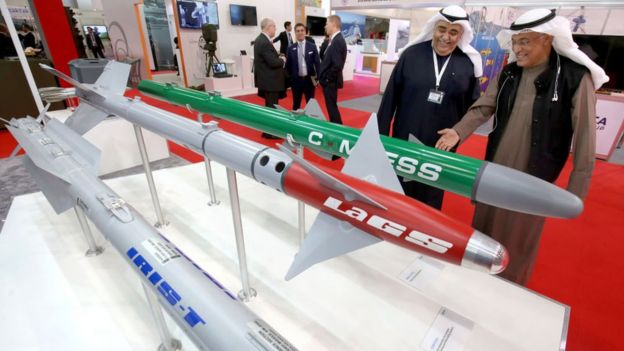 International arms exhibition in Kuwait.