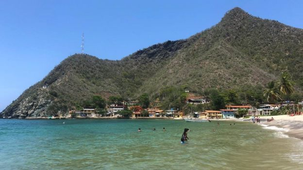 Una playa venezolana.