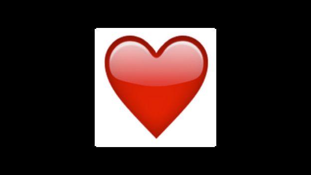 красное сердце смайлики