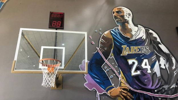 Kobe Bryant mural at the World of Kobe