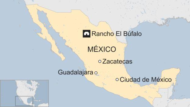 Un mapa de México