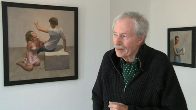 Harry holland paintings on show in cardiff exhibition bbc news