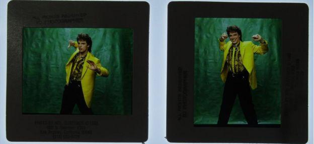 Slides of actor John Barrowman