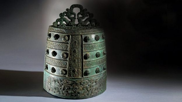 Campana de bronce china