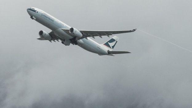 طائرة تابعة لشركة كاثي باسيفك