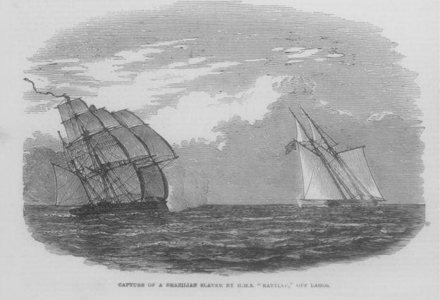 Navio brasileiro capturado