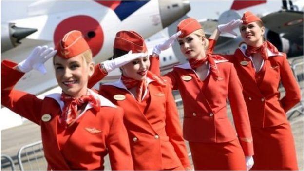 俄羅斯國際航空公司的空姐:公司認為她們是國家的名片。