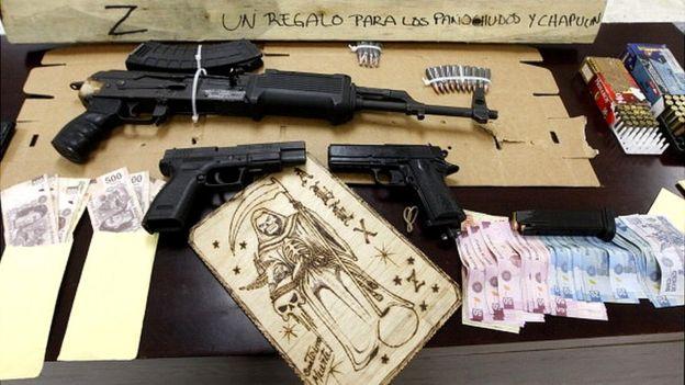 Apreensões feita pela polícia mexicana