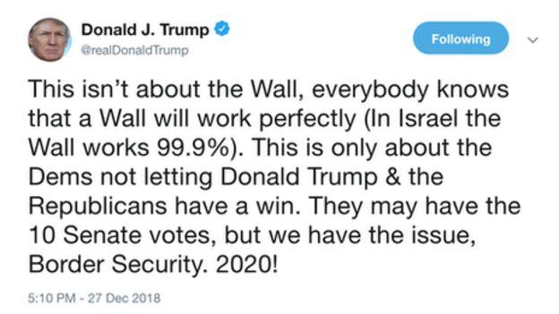 آقای ترامپ می گوید دموکرات ها نمی خواهند او برنده دعوا باشد