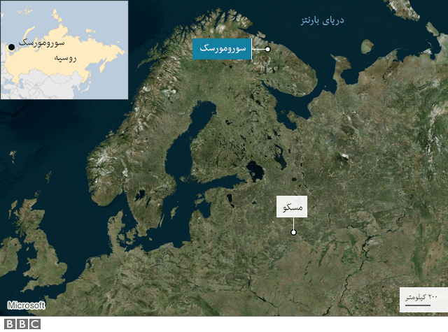 نقشه سورمورسک