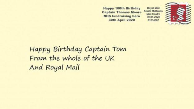 Royal Mail's Capt Tom Moore postmark