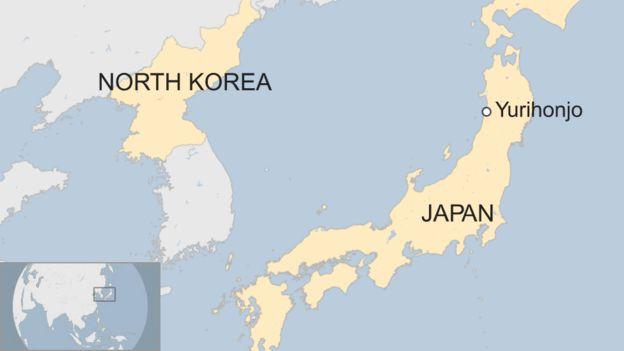 Map of Yurihonjo