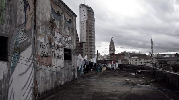 Vista de São Paulo a partir de uma ocupação