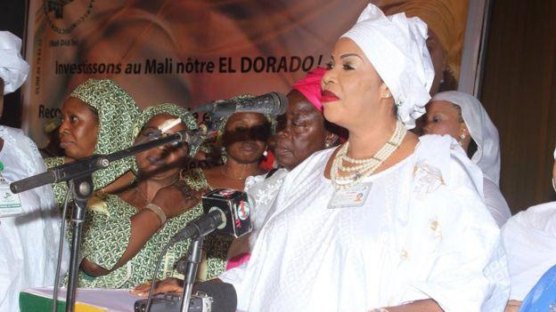 La seule femme candidate au Mali