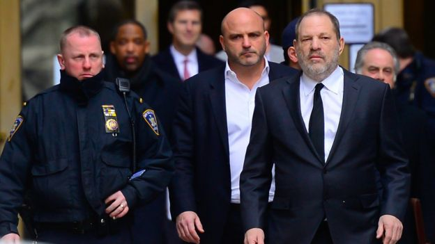 Harvey Weinstein attends a court in New York