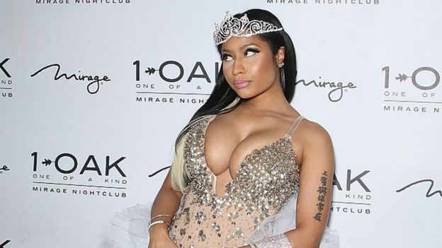 Nicki Minaj posing in a crown