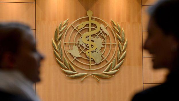 日内瓦万国加多宝官网宫会议厅内的世界卫生组织标志(21/5/2012)