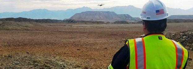 A Rio Tinto drone pilot
