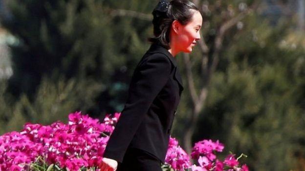 Bà Kim Yo-jong tới dự lễ khánh thành một khu tập thể ở Bình Nhưỡng năm 2017
