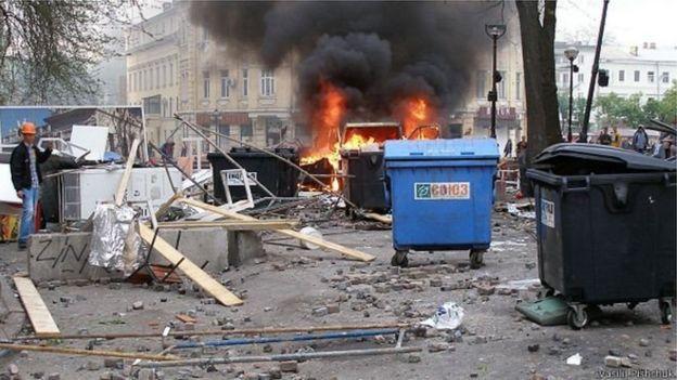 Одеса, 2 травня 2014 року, барикади і вогонь