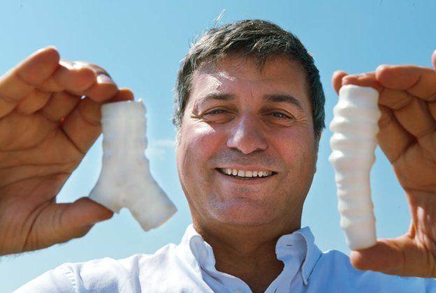 Paolo Macchiarini with his synthetic tracheas