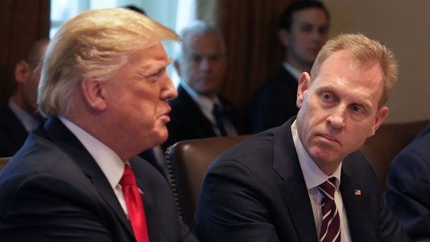 Donald Trump y Patrick Shanahan