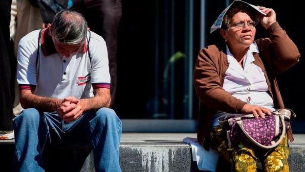 Adultos mayores en Caracas