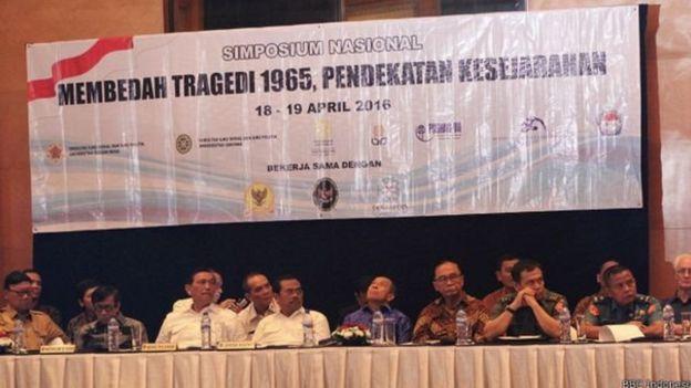 Simposium tragedi 1965 disponsori oleh pemerintah dan dihararapkan sebagai pintu awal untuk menyelesaikan dugaan pelanggaran HAM peristiwa kekerasan pasca Oktober 1965.